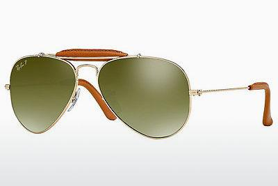 Ophthalmics Ray-Ban AVIATOR CRAFT (RB3422Q 001/M9) - Gold, Brown