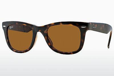Ophthalmics Ray-Ban FOLDING WAYFARER (RB4105 710) - Brown, Havanna