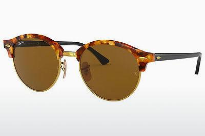 Ophthalmics Ray-Ban Clubround (RB4246 1160) - Brown, Havanna