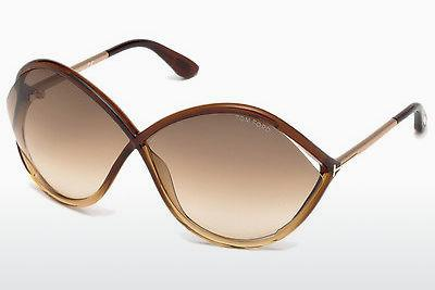 Ophthalmics Tom Ford Liora (FT0528 50F) - Brown, Dark